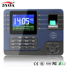 5YOA A091FY TCP IP Biometric Fingerprint Time Attendance Clock Recorder Electronic English Reader Machine USB RFID ID Card