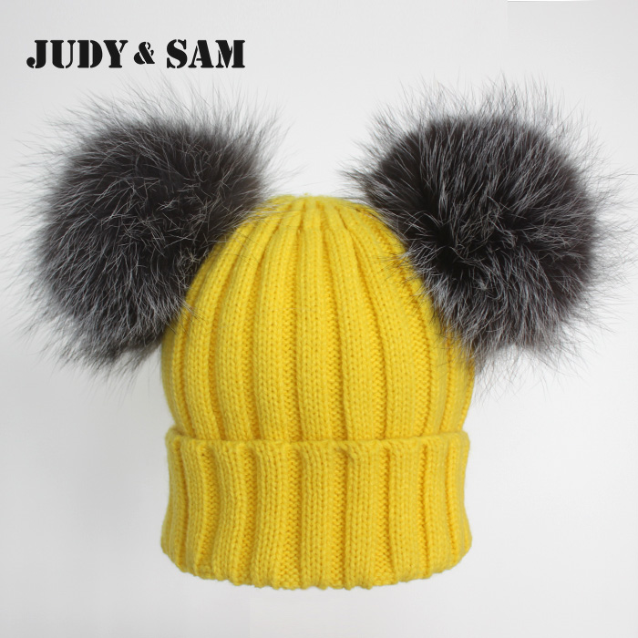 Brand Beanies Knit Mens Winter Hat Caps Skullies Bonnet Winter Hats For Men Women Real Fur Pom Pom Beanie Outdoor Ski SportsОдежда и ак�е��уары<br><br><br>Aliexpress