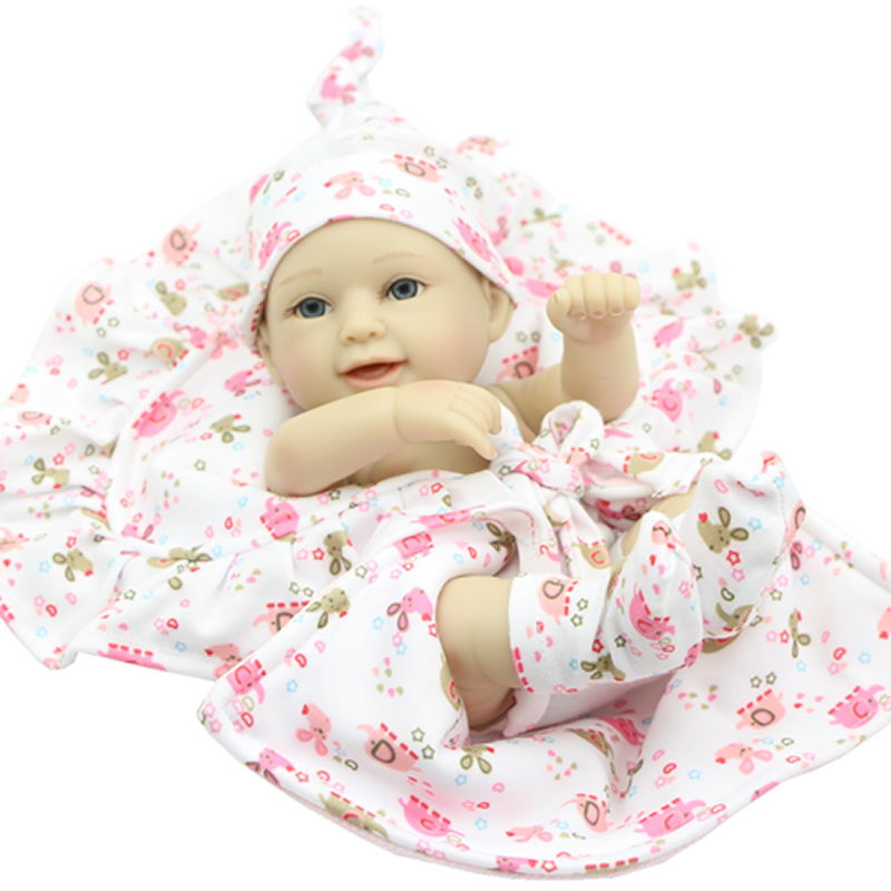 Truly Real Smiling Reborn Princess Girl Baby Dolls11 Inch Full Silicone Vinyl Newborn Babies That Look Real Kids Birthday Gift<br><br>Aliexpress