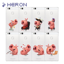 Soft TPU Cat Case for Huawei maimang 4 5 mate 8 9 Pro nova P8 P9 P10 Lite Enjoy 5S 6 P9 P10 Plus Lovely Cartoon Pig back cover