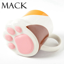 Cute Creative Cat Paws Ceramic Personality Mug Milk Cup Office Coffee Tumbler Breakfast Mugs  MCC031