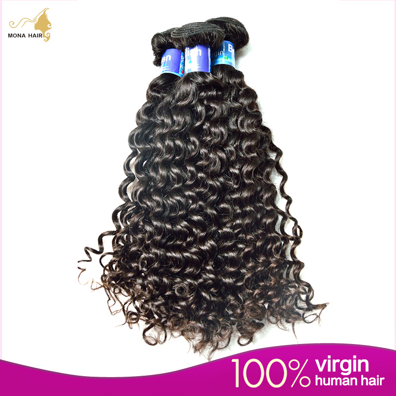 Free shipping Mona 8A Brazilian Deep Curly Virgin Hair 100G 1 Bundle Top Grade Vavy Brazilian Hair Bundles Accept Paypal<br><br>Aliexpress