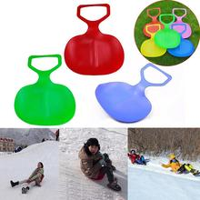 Sports Winter Adult Kids Thicken Plastic Skiing Boards luge adult Ski Pad Children Snow grass sand Sledge Sled