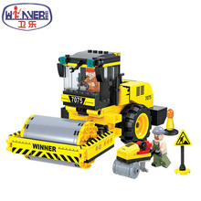 Winner 7075 Engineering Series Road Roller Building Blocks City Construction Toy Children Boys Gifts - yangyang store