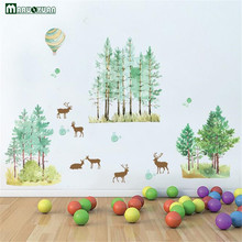 New Hand - Painted Forest Deer Foreign Trade Living Room Bedroom Background Decorative Wall Stickers Factory Direct