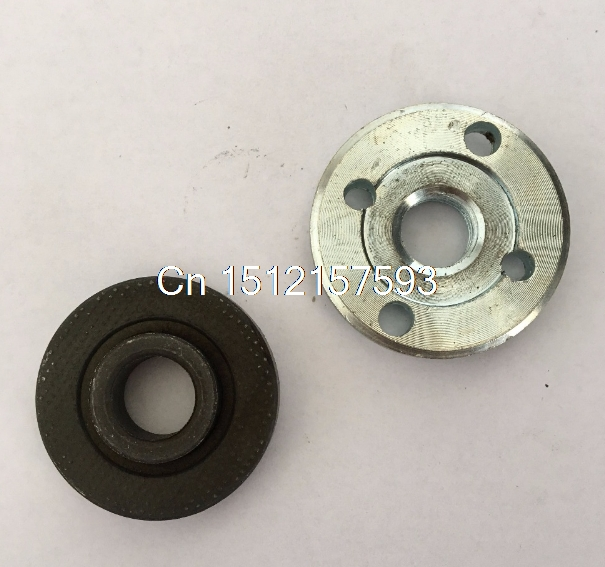 2 Pcs Angle Grinder Spare Part Round Clamp Inner Outer Flange for Hitachi