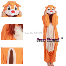 HKSNG Women Adults Winter Warm Animal Brown Chipmunk Squirrel Pajamas Chippy Onesies Cosplay Christmas Party Kiguruma