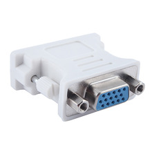 DVI-I 24+5 Male to HD 15 Pin VGA SVGA Female Video Card Monitor LCD Converter Adapter(China)