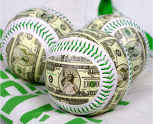 5 Pcs Free shipping Brand New American dollars style Baseball Practice Training competition softball gift ball Autographed ball