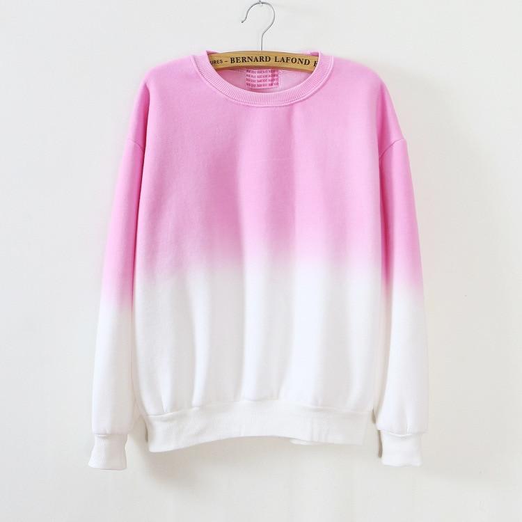 ArtSu Autumn Winter Thicken Fleece Gradient Color Hoodies Sweatshirt Women Hoody Tracksuit Cute Sweatshirts Clothing ASHO50037 10