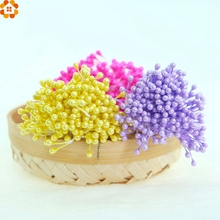 300pcs Stamen Artificial Flower DIY Double Heads Pearlized For Craft Cards Cakes Candy Box Decoration Floral DIY Wreaths(China)