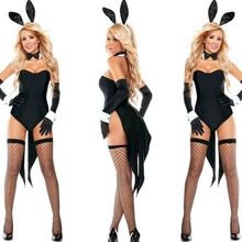 2017 New Bunny Girl Rabbit Costumes Women Cosplay Sexy Halloween Adult Animal Costume Fancy Dress Clubwear Party Wear Plus