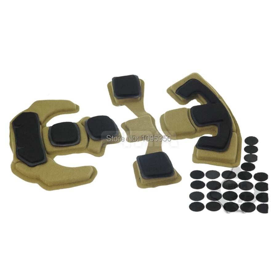 Safe Helmet Sponge Pad Fast Helmet Inner EVA Cushion W//Hook Sticker Guard Supply