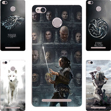 Fashion GOT Game Of Throne House Stark Lannister Targaryen Hard PC Painting Case for Xiaomi Redmi 3X 3S 3 Pro Phone Printed Case