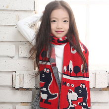 2017 Real Scarf Children Scarves Imitation Cashmere Jacquard Korean Version Of The Winter Thick Scarf Manufacturers Wholesale(China)