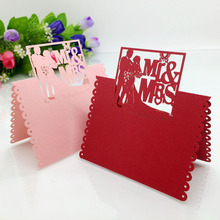 20 Laser Cut Mr & Mrs Table Name Place Card Seating Numbers Wedding Party Bridal Shower Table Decoration Centerpieces Pink White