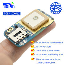 ZX612 Mini GSM GPS LBS Tracker Positioner Locator DIY High-integration PCBA SOS Alarm Platform APP Tracking for Children Vehicle(China)