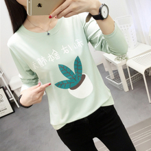 Buy Fashion Newest T-shirt Women 2017 Spring Harajuku Style 90S Young Girl long-sleeved T-shirt Woman Tops Student Casual Carton top for $4.55 in AliExpress store