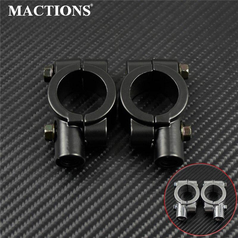 25 mm Par de base soporte adaptador de manillar para moto bike espejo Bicicleta Negro 10mm