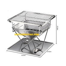 3-4 people foldable stainless steel barbecue stove outdoor barbecue rack portable outdoor charcoal barbecue home oven set