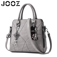 Jooz Brand PU Handbag Crystal Pendant Women Cross Line Handbag Shoulder Bag Leather Messenger Bag Satchel Purse Casual Tote