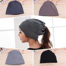 Womens Fashion Casual Design Plain Beanie Hat Cool Snap Backs 4 Colours Neck Scarf Double Use For Girls Winter Ears Hat