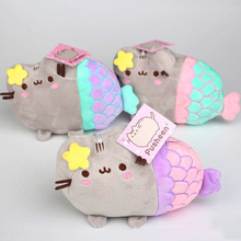 20cm Pusheen Plush Toys Cute Cartoon Pusheen Cat Cosplay Mermaid Plush Soft Stuffed Animals Toys Gifts for Kids Children