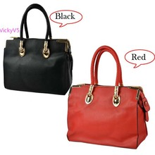 2013 Hot selling Women's Synthetic Leather Metal Embellished Shoulder Bag Tote ladies Handbag 2Colors F(China)