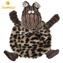PV Fleece Sprawled Cattle Plush Sound Dog Toys Pet Puppy Chew Squeaker Squeaky Plush Toys Drop Shipping(China)