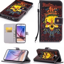 New Horror Hack Poison Leather Flip Cover Case For Samsung Galaxy S3 S4 S5 S6 S7 Edge A3 A5 J1 J5 J3 A7 Core Grand Prime Case(China)