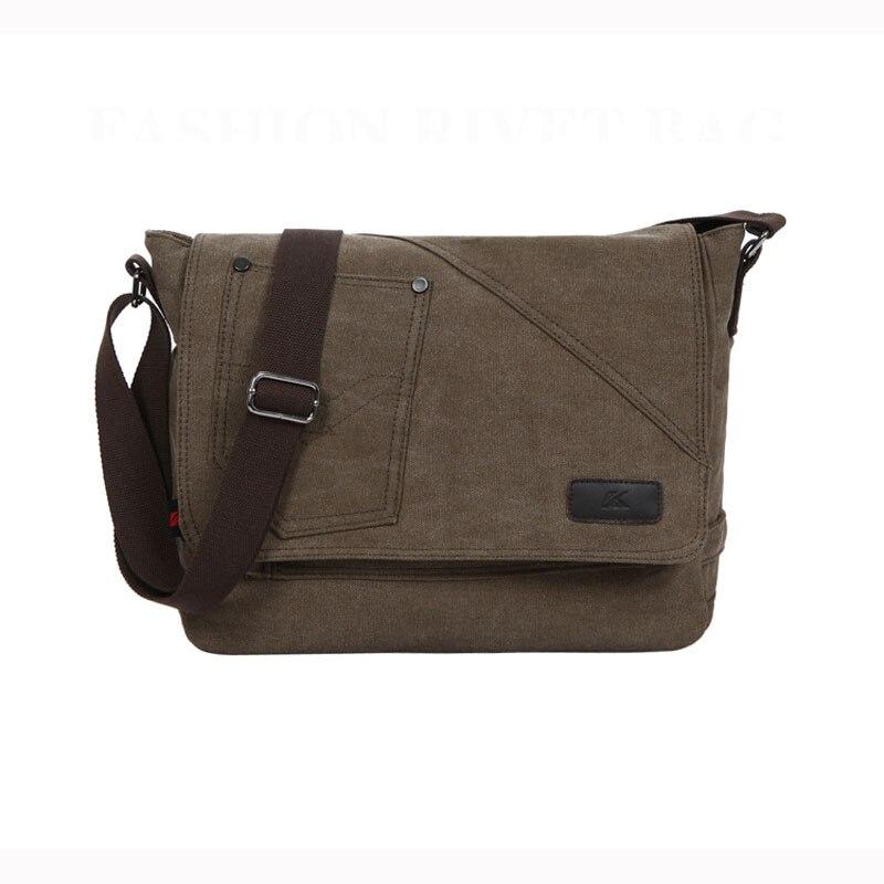 Retro Brand K2 Canvas Mens Classic Messenger Bag Crossbody Shoulder Bag Travel  Satchel Laptop Bag Size:35cm*10cm*29cm<br>