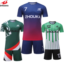 different design sublimation custom soccer set available personal name and number soccer jersey(China)