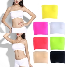 Womens One Size  One-Piece Seamless Elastic Strapless Bandeau Bra Tube Top Bra