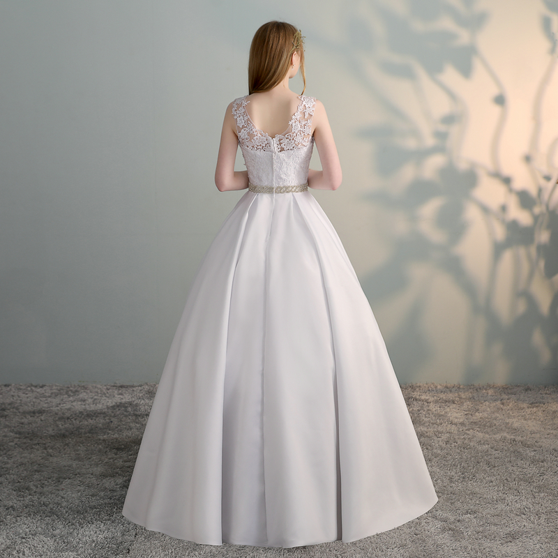 Gorgeous White Wedding Dresses 2018 New Sexy Formal Wedding Dress Long Tulle Appliques Ball Gown Ivory Wedding Gowns Custom made 2