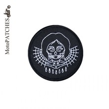 MotoPATCHES Woman Embroidery Iron On Patches Clothing DIY Accessory Heavy Metal Bike Motorcycle Patches(China)