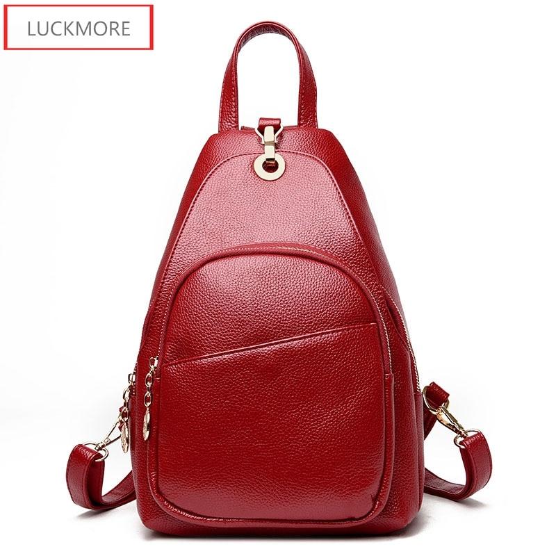 Women School Bag Zipper Genuine Leather Bag Women 2017 Hotsale School Bags for Teenagers Fashion Bags for Teenage Girls<br>
