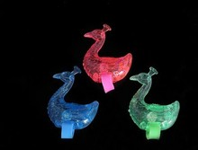 500pcs Peacock Led Finger Ring Toy.Size 11*1.4cm.Light Cartoon Glow stick.Lovely led light toy.Led flash toy