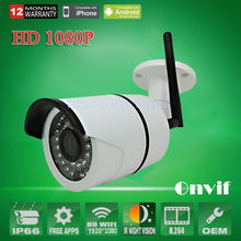 IP camera 1080p 2.0MP Wireless security ip cam wifi megapixel outdoor waterproof infrared HD onvif mini home CCTV camera