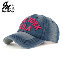 New arrival high quality snapback cap demin baseball cap 6 color Jean New York USA hat for men women boy girl cap B345