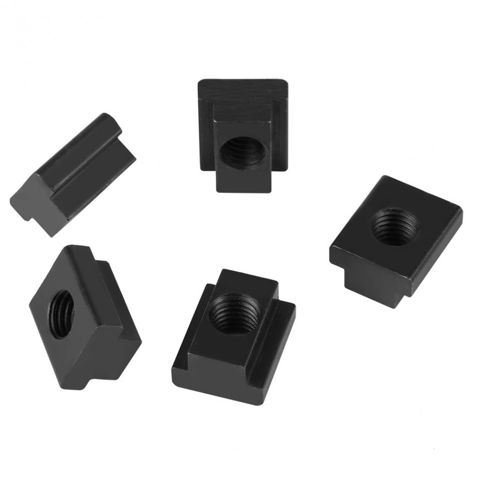 5 pcs T Sliding Nut Block Black Oxide Finish T Slot Nuts M14 Threads Fit Into T-Slots in Machine Tool Tables Clamping Table Slot Nut T-Slot Nut