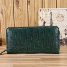 WESTERN AUSPICIOUS Genuine Leather Women Wallets Long Design Clutch Crocodile Wallet Fashion Female Purse Phone Bags Christmas(China)