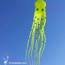Outdoor Toy 15M Large 3D Kite Tube-Shaped Parafoil Octopus Kite Ripstop Nylon Fabric Soft Kite