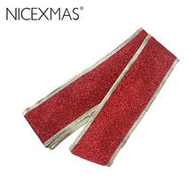 Glitter Ribbon Tree Decoration Christmas Band Ballroom Decor Wedding Ornaments Christmas embellishment ribbon sewing accessories(China)