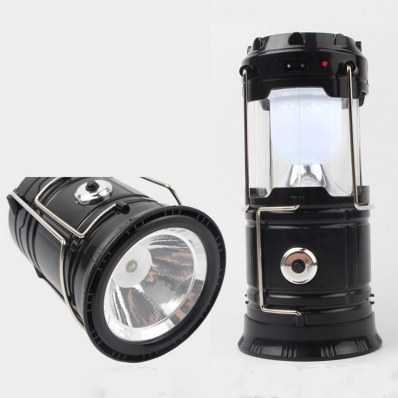 Camping Lantern LED Solar Rechargeable Camp Night Light Flashlights Emergency Lamp Power Bank for Android Cell Phone IOS Iphone<br><br>Aliexpress