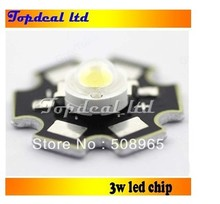 100pcs 3W High Power LED Neutral White 4000K- 4500k LED Light Emitter  with 20mm star pcb base