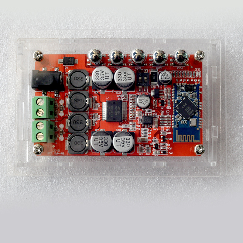 TDA7492P bluetooth CSR4.0 amplifier board receive digital audio power amplifier board + acrylic shell<br>