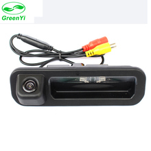 GreenYi Waterproof Night Vision Car Rear View Trunk Handle Camera for Ford Focus 2012-2015 Focus 2 Focus 3 with LED