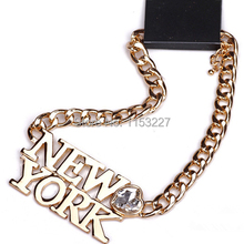Punk Style new york city letter necklace(China)
