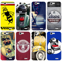 H345 Vespa Scooter Transparent Hard Thin Skin Case Cover For Huawei P 6 7 8 9 10 Lite Plus Honor 6 7 8 4C 4X G7