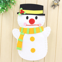 EVA Cloth Lovely Animals Tiger Frog Santa Claus Snowman Finger Hand Puppet Doll Kids DIY Assembling Puzzles Educational Toys